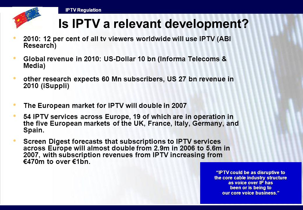 Is IPTV a relevant development