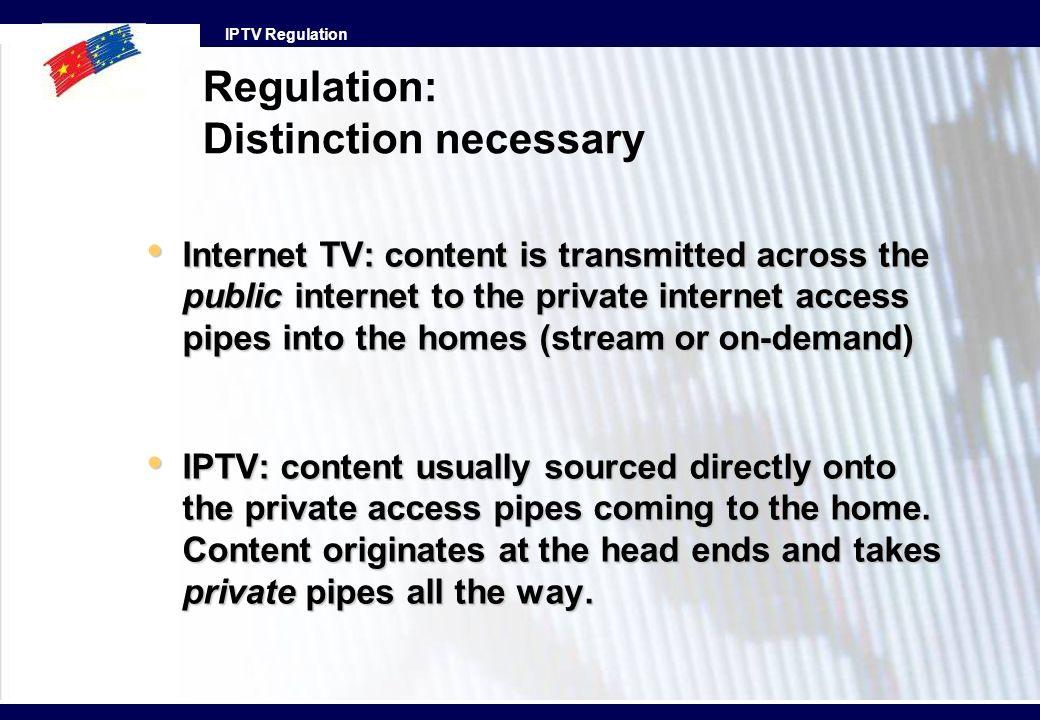 Regulation: Distinction necessary