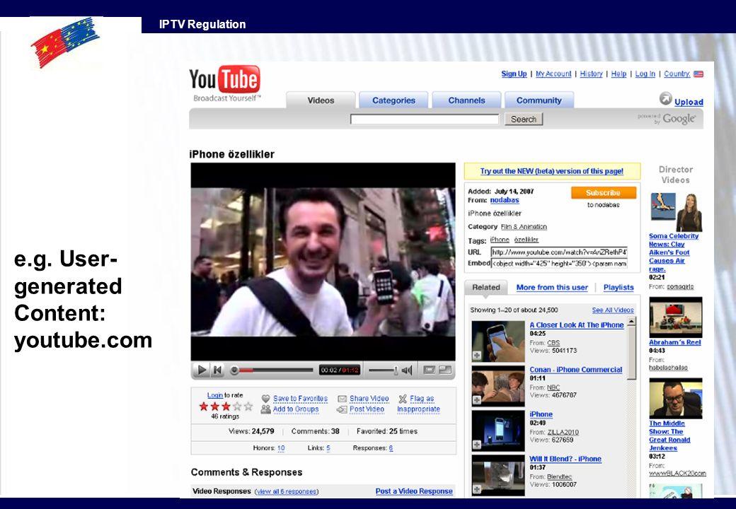 e.g. User- generated Content: youtube.com
