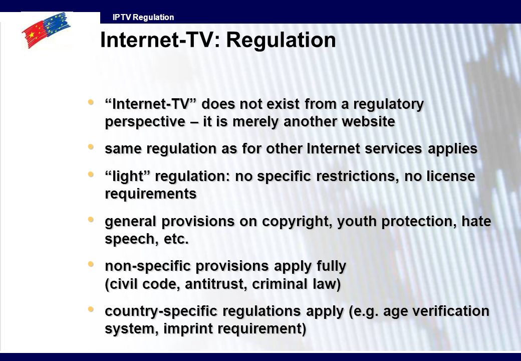 Internet-TV: Regulation
