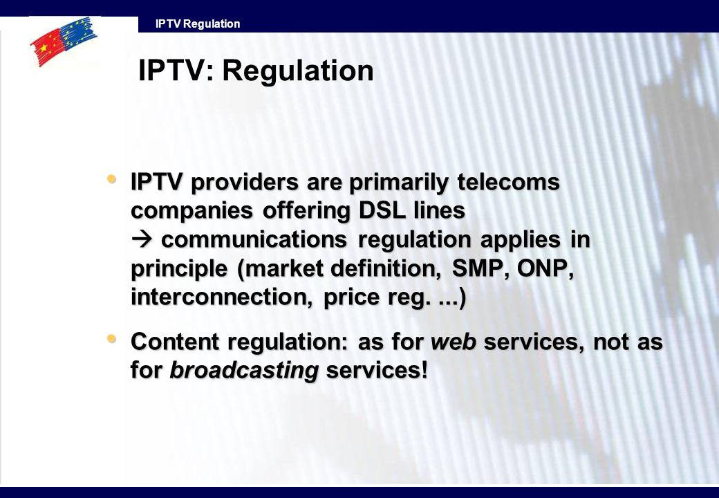 IPTV: Regulation