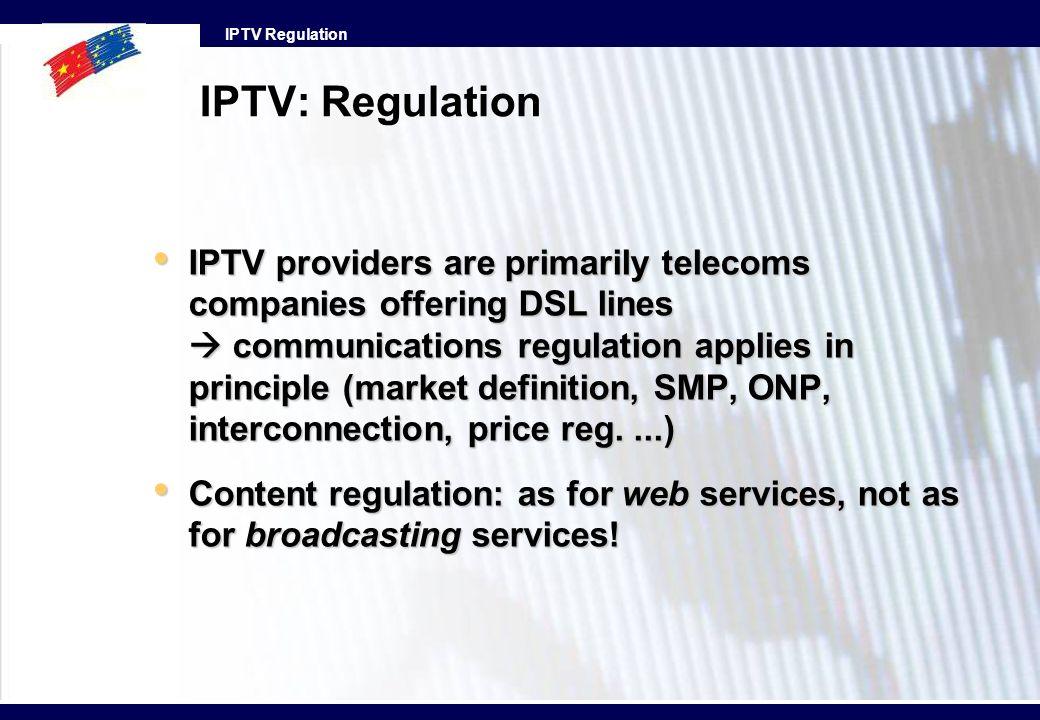 IPTV: Regulation