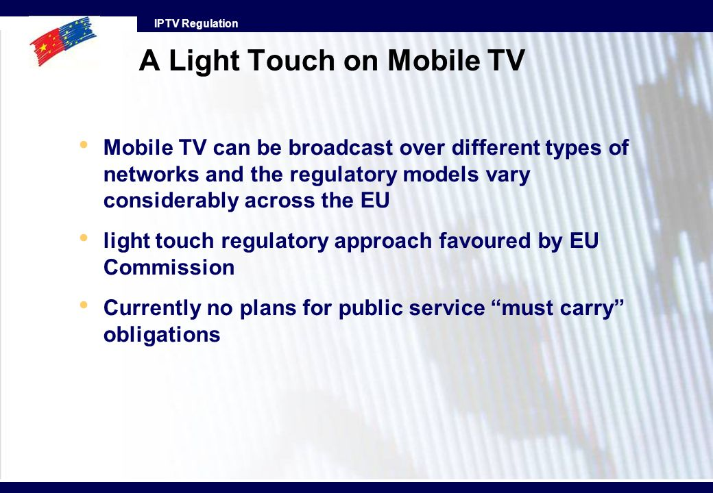 A Light Touch on Mobile TV