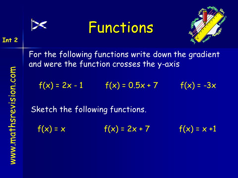 Functions www.mathsrevision.com