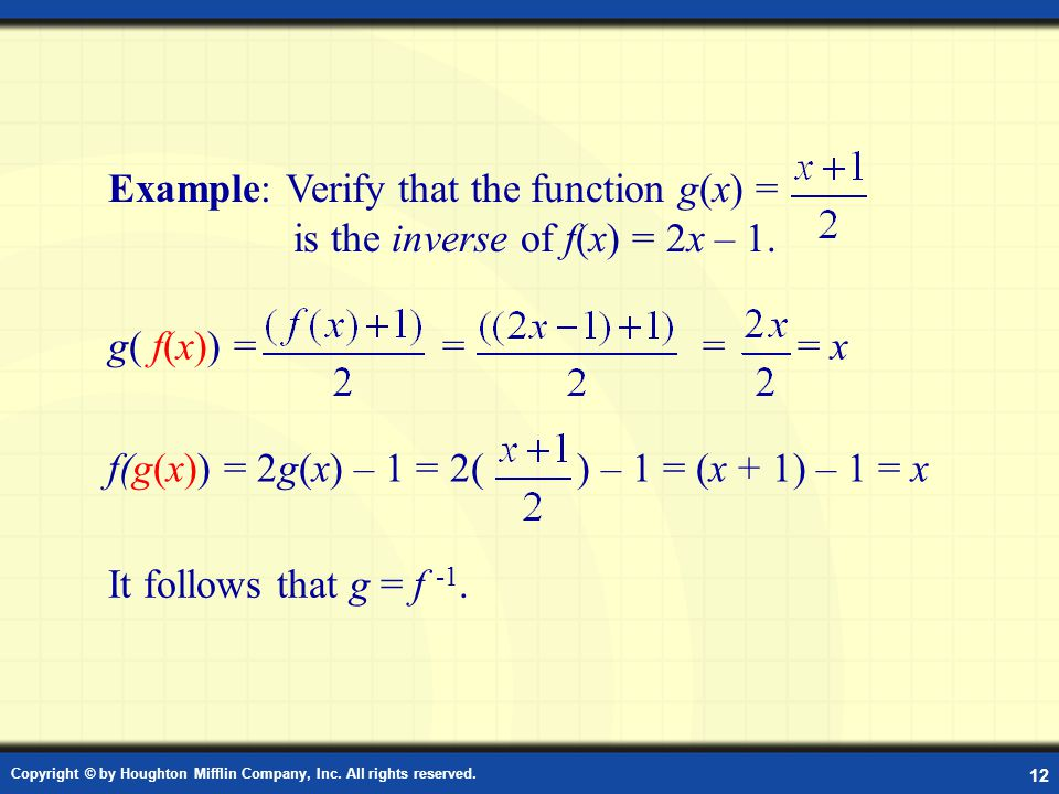 Example: Composition of Functions