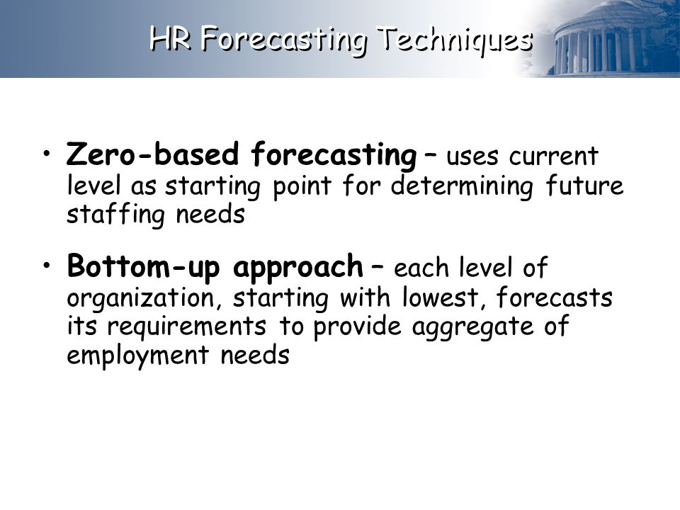 HR Forecasting Techniques