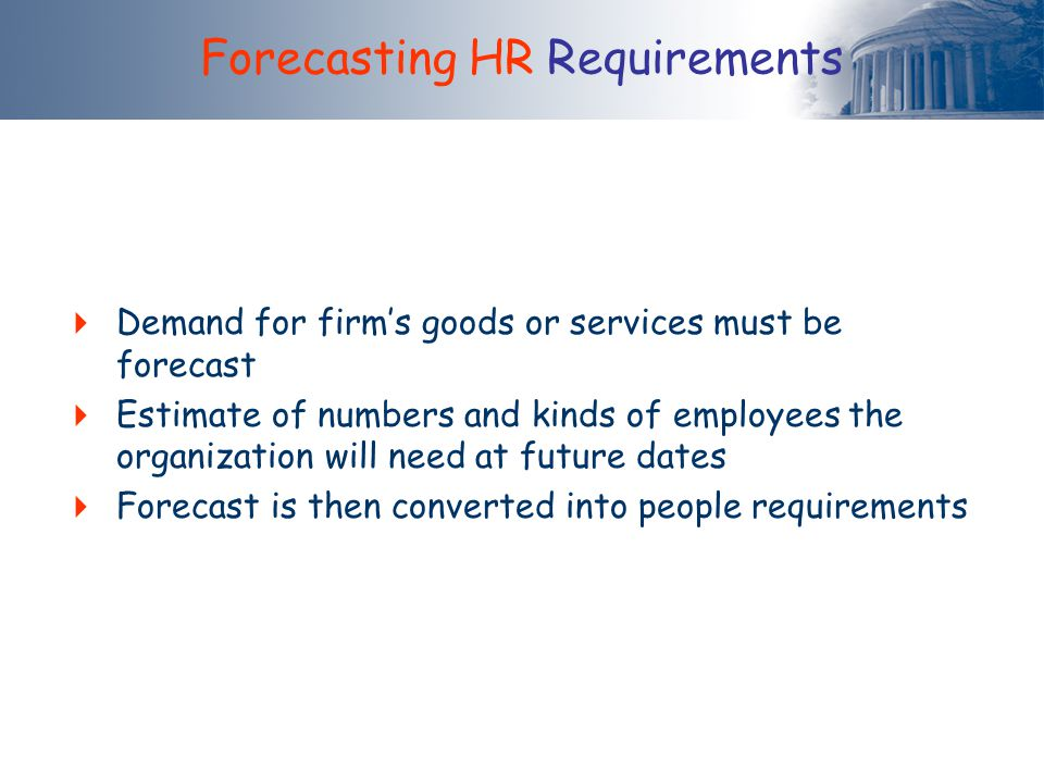 Forecasting HR Requirements