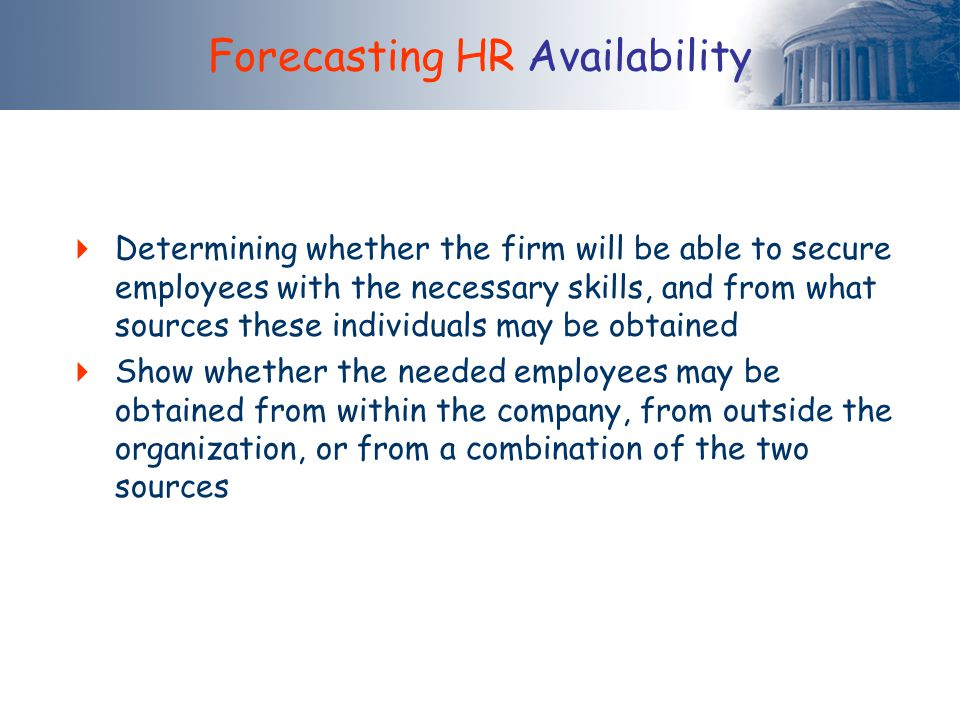 Forecasting HR Availability