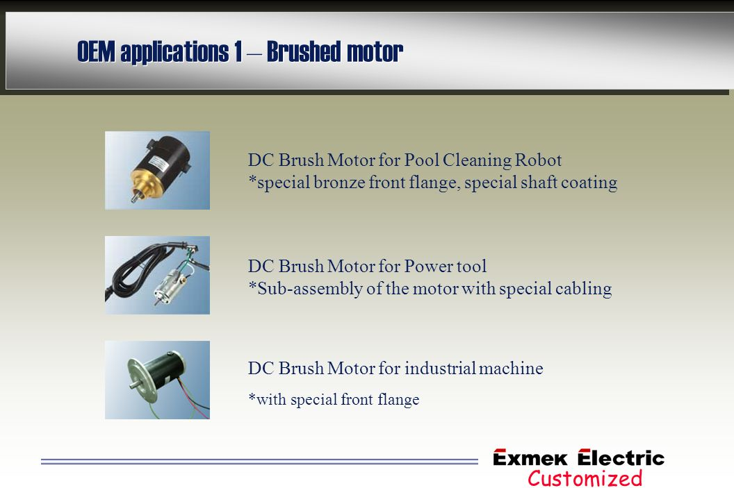 OEM applications 1 – Brushed motor