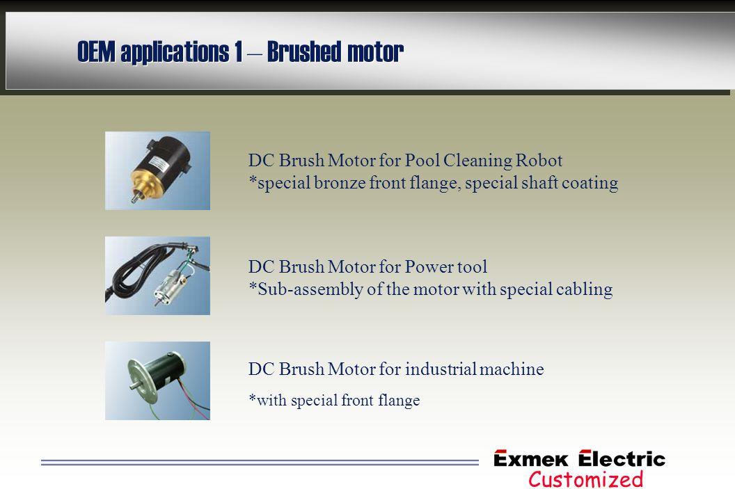 OEM applications 1 – Brushed motor