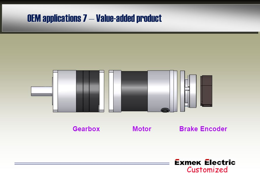 OEM applications 7 – Value-added product