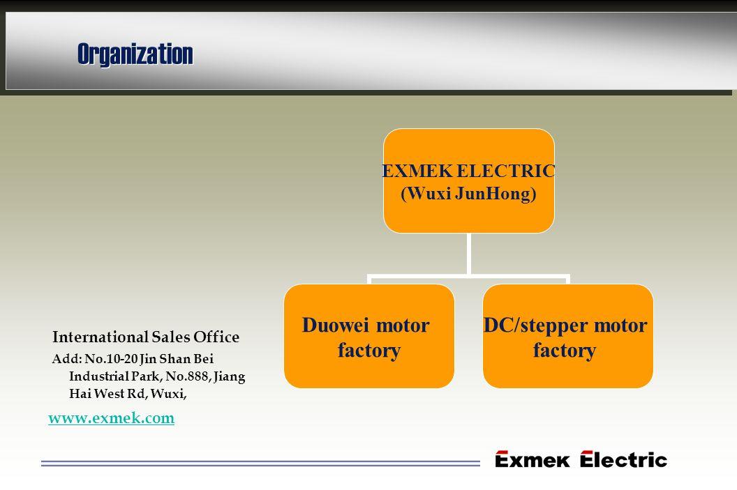 Organization International Sales Office www.exmek.com