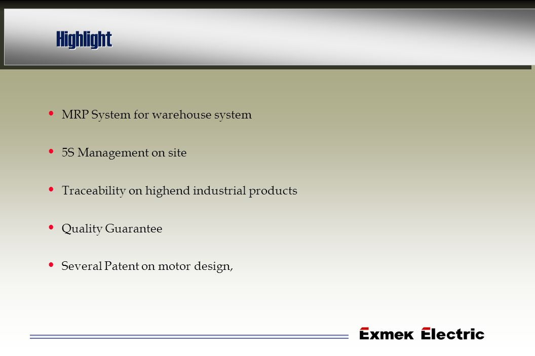 Highlight MRP System for warehouse system 5S Management on site