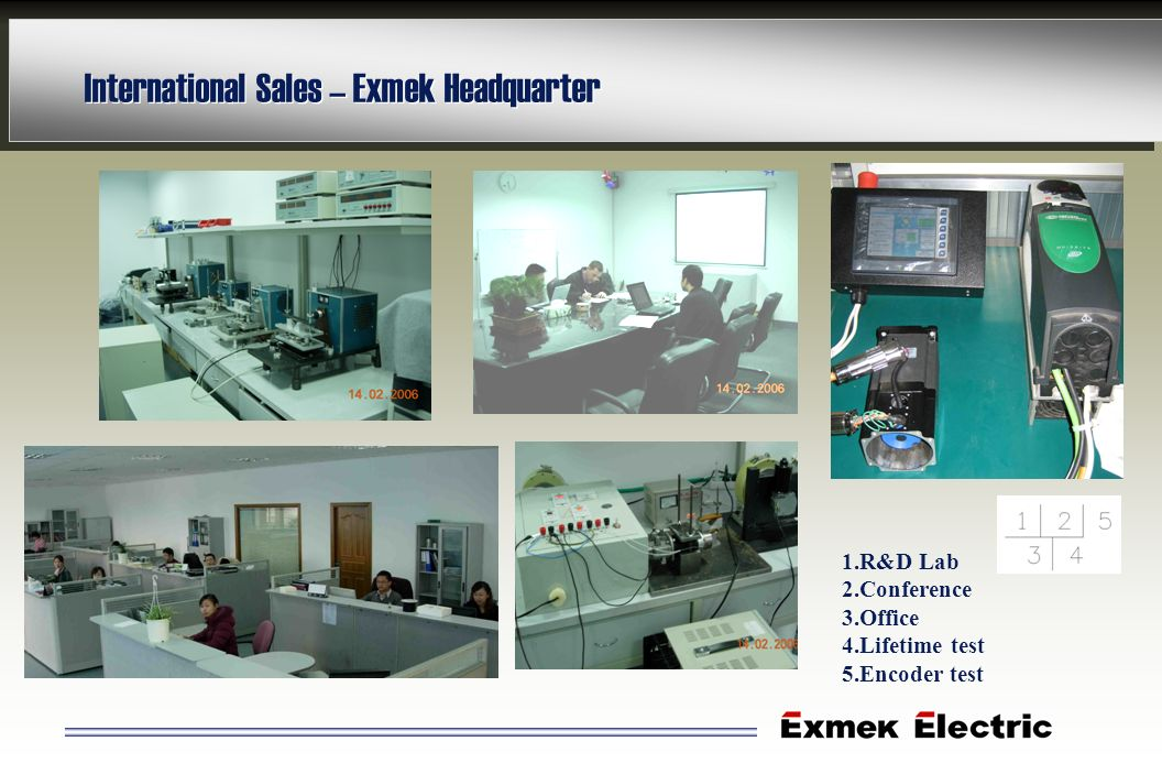 International Sales – Exmek Headquarter