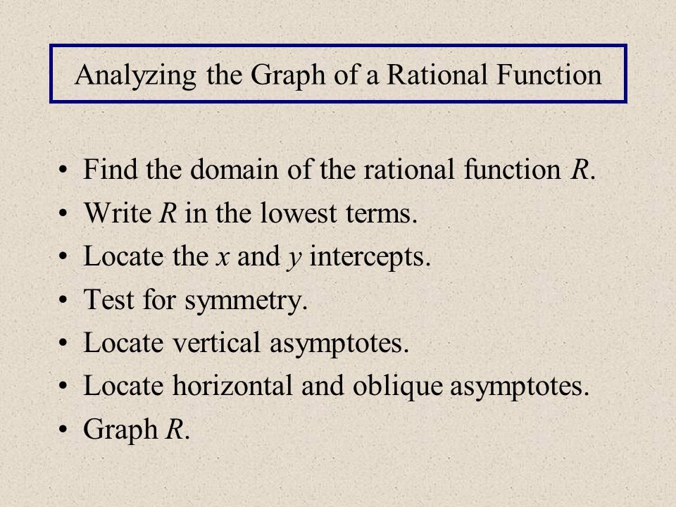 Analyzing the Graph of a Rational Function