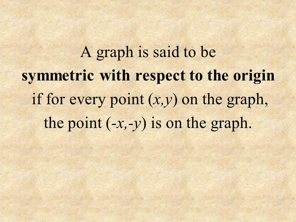 symmetric with respect to the origin