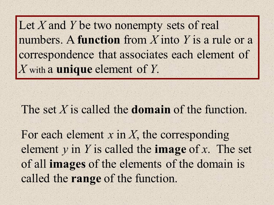 Let X and Y be two nonempty sets of real numbers