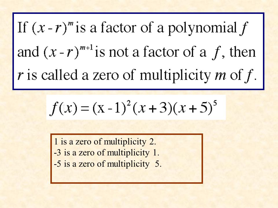 1 is a zero of multiplicity 2.