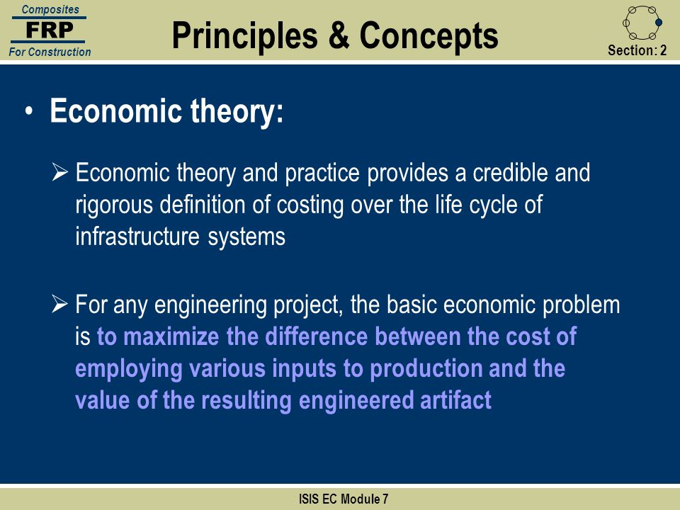 Principles & Concepts Economic theory: