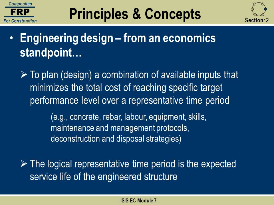 FRP Composites. For Construction. Principles & Concepts. Section: 2. Engineering design – from an economics standpoint…