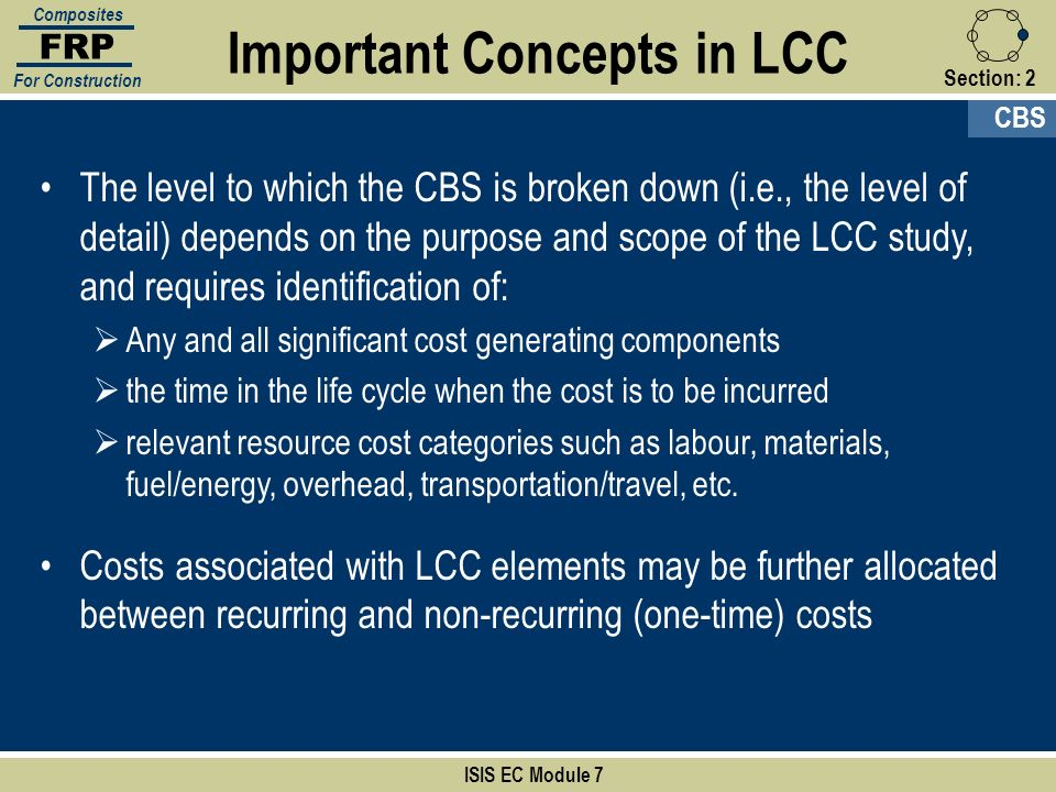 Important Concepts in LCC