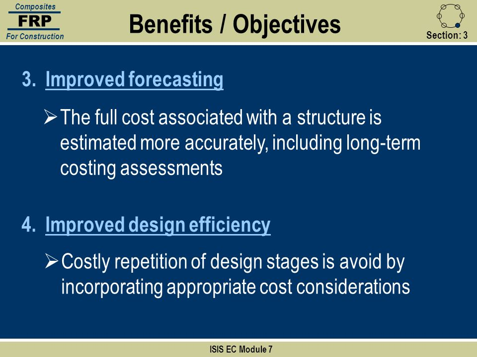 Benefits / Objectives Improved forecasting