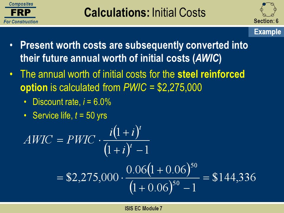 Calculations: Initial Costs