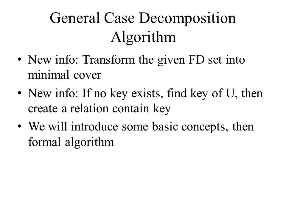General Case Decomposition Algorithm