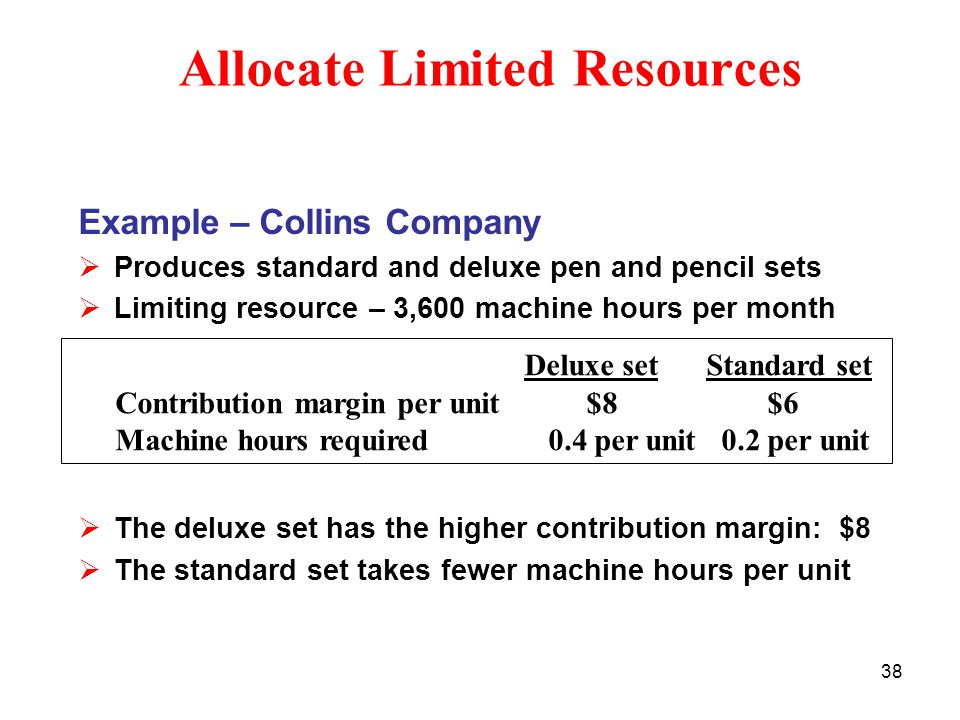 Allocate Limited Resources
