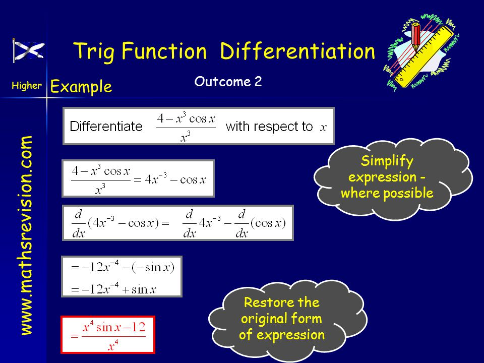 Trig Function Differentiation