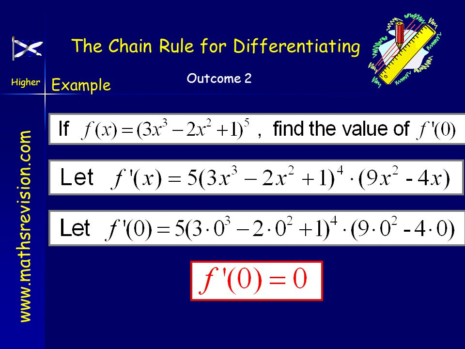 The Chain Rule for Differentiating