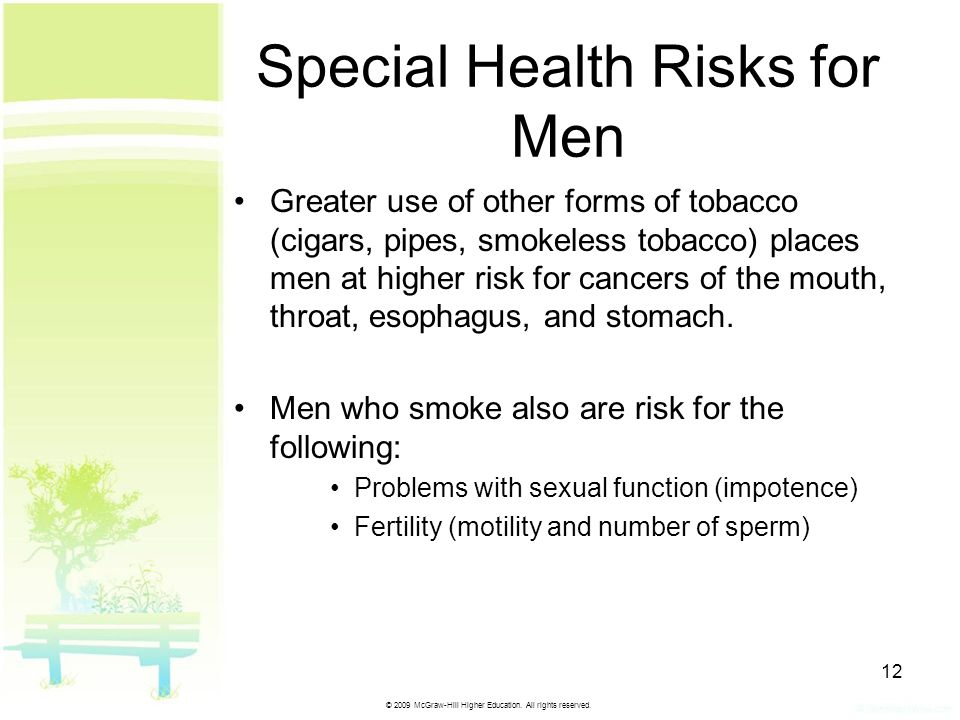 Special Health Risks for Men