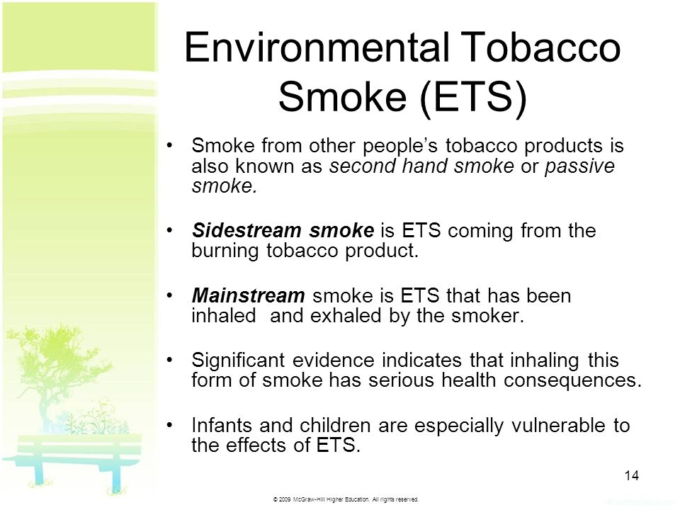 Environmental Tobacco Smoke (ETS)