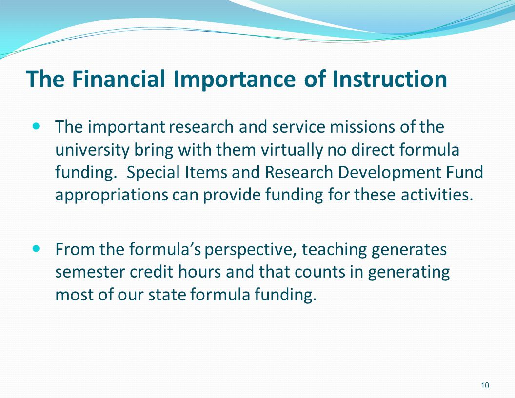 The Financial Importance of Instruction