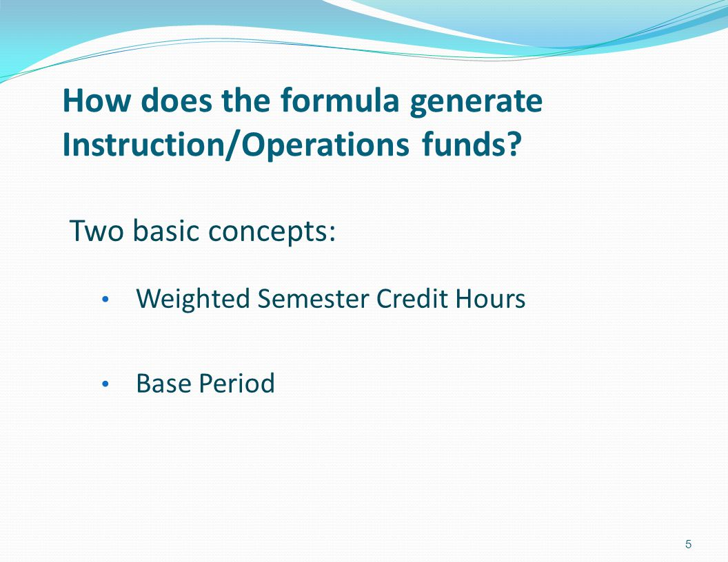 How does the formula generate Instruction/Operations funds