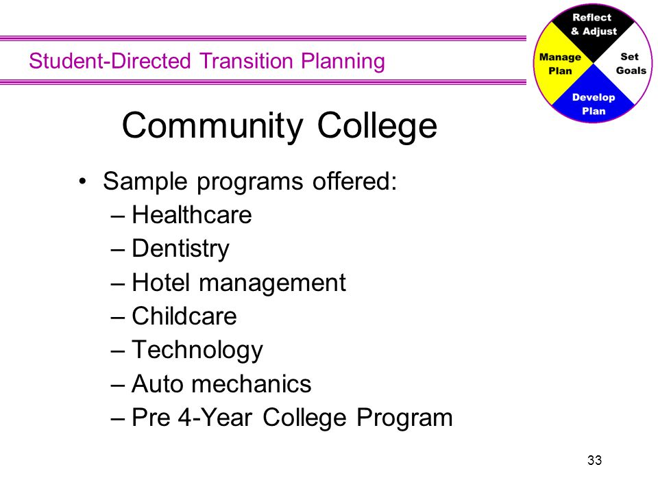 Community College You can start out at a community college to take basic classes and get comfortable with going to college.