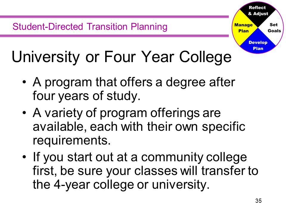 University or Four Year College