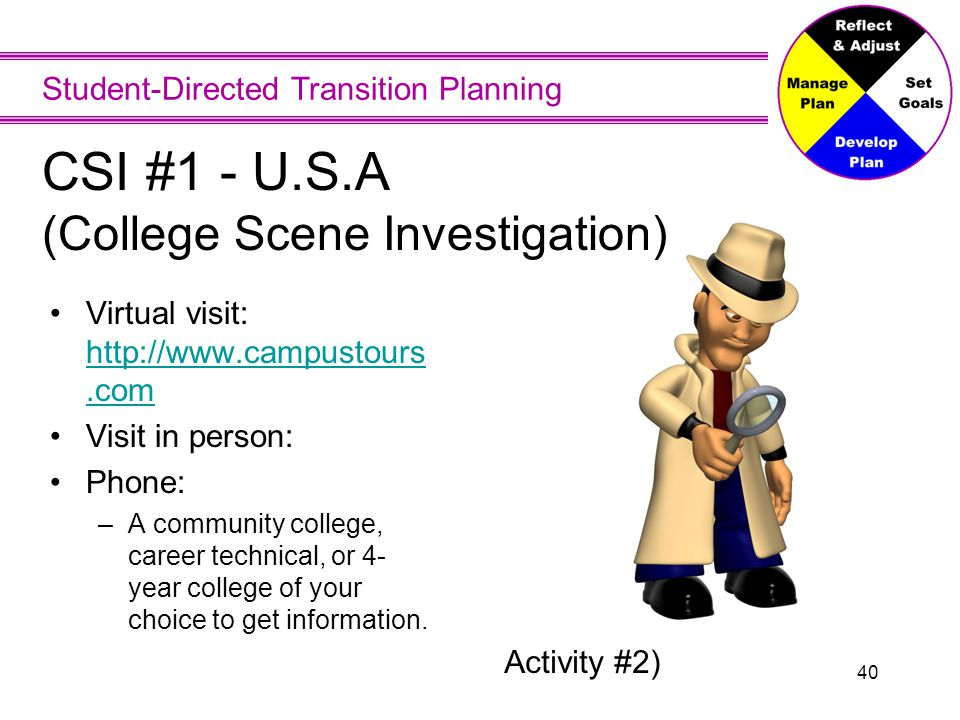 CSI Worksheet 1 Subject area of interest Admission requirements