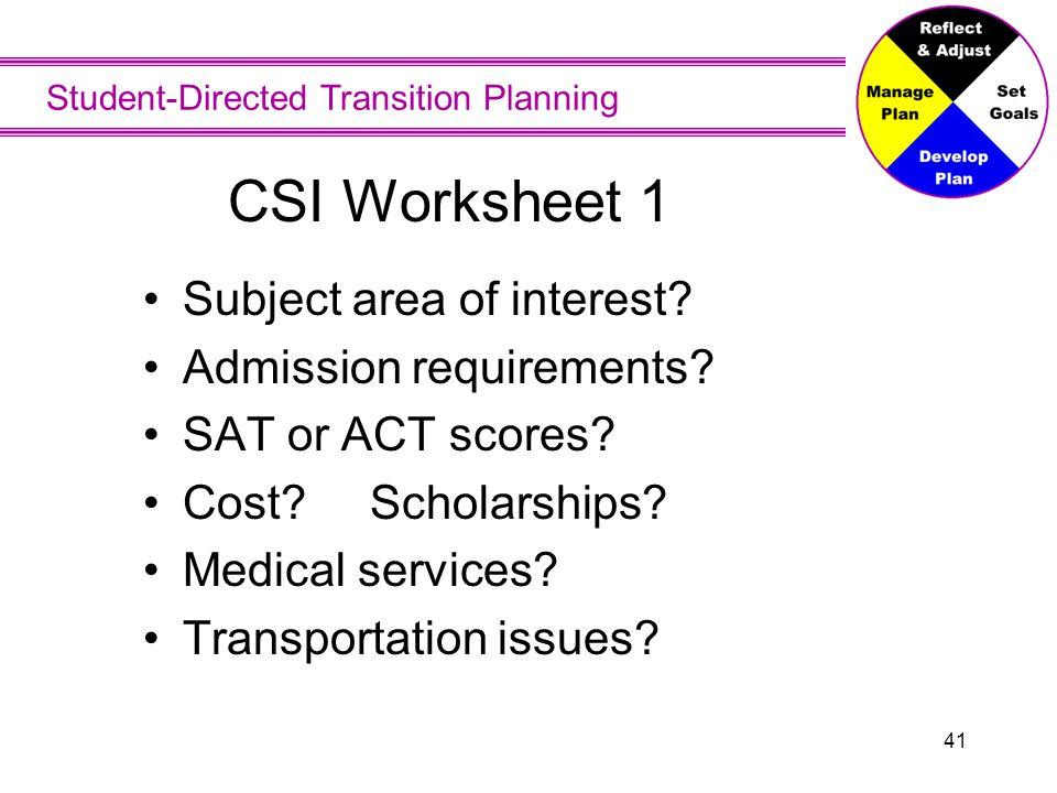 CSI Worksheet Findings