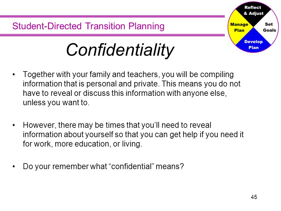 Confidentiality Reminder: