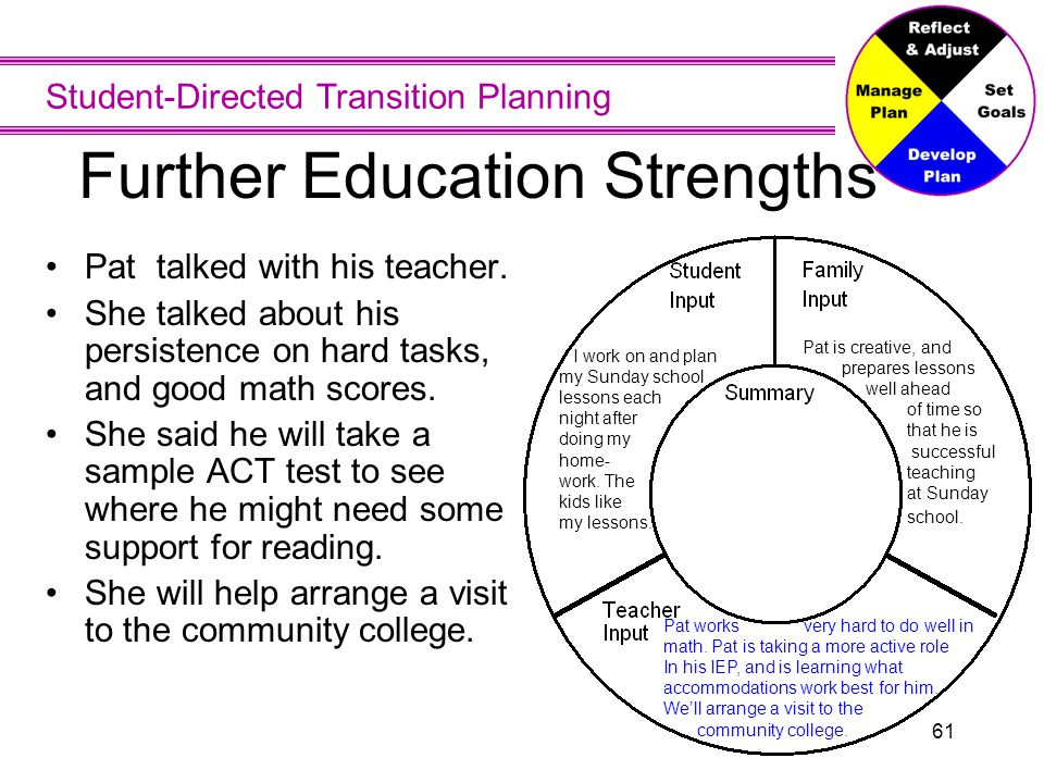Further Education Strengths