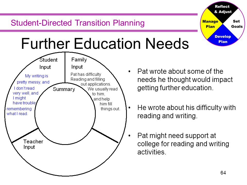 Further Education Needs