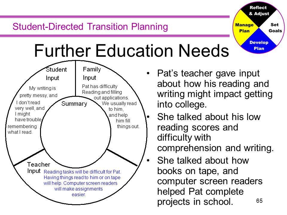 Further Education Needs - Summary