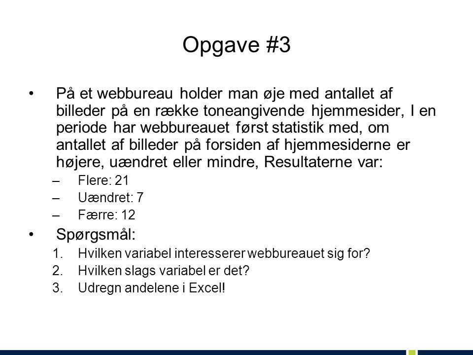 Opgave #3
