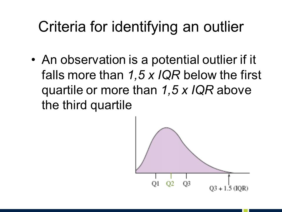 Criteria for identifying an outlier