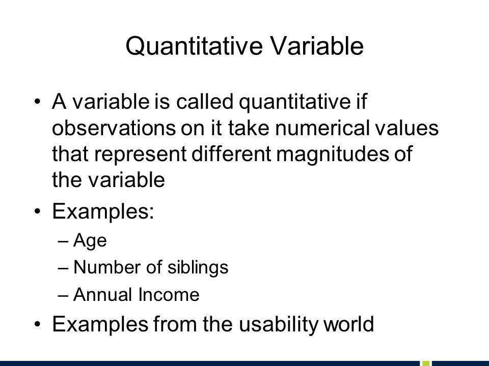 Quantitative Variable