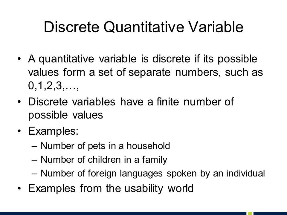 Discrete Quantitative Variable