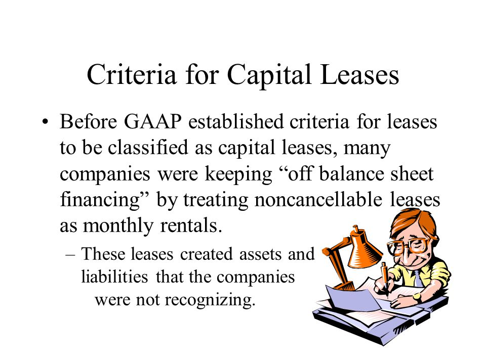 Criteria for Capital Leases