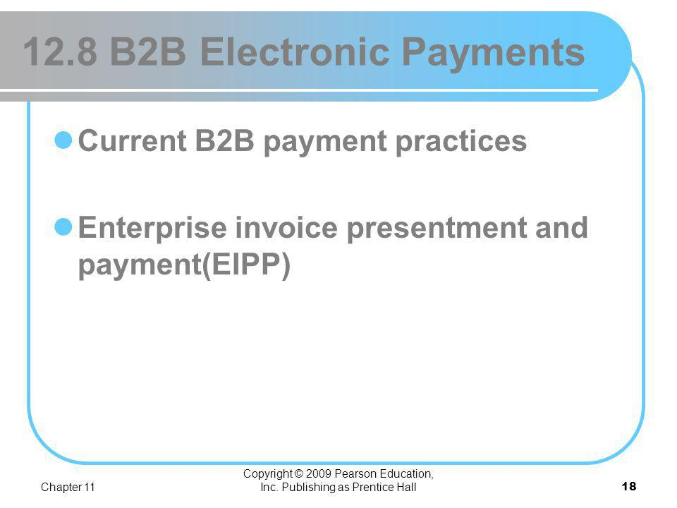 12.8 B2B Electronic Payments