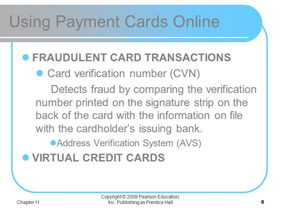 Using Payment Cards Online